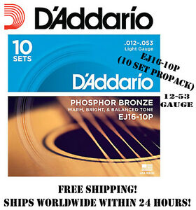 D Addario Ej16 Phosphor Bronze Light Acoustic Guitar