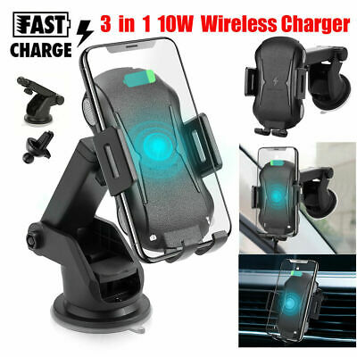 Qi Wireless Car Charger Automatic Clamping Air Vent Mount Phone Charging Holder 750958538536 | eBay