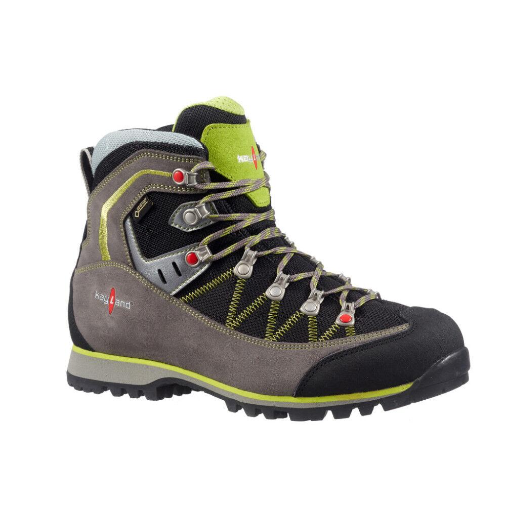 Schuhe Trekking Bergsteigen Wandern KAYLAND Plume micro gtx Grau lime