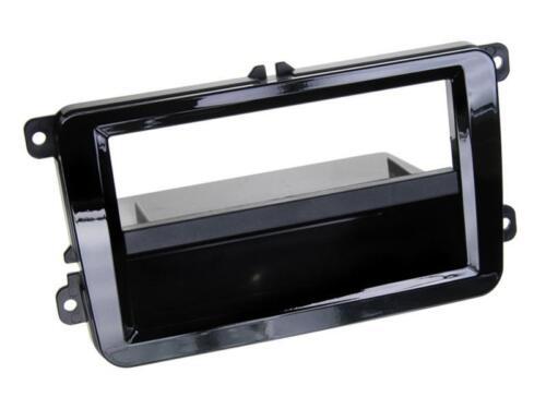 Radio kit de integracion auto 1 din diafragma adaptador VW Caddy 2k 2kn a partir de 03 piano black