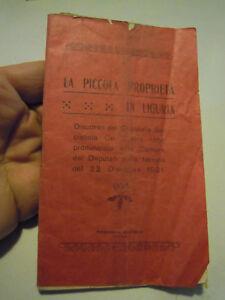 """"""" DIE KLEINE IMMOBILIEN ' IN LIGURIEN """" SOZIALISTISCHEN PIETRO ABBO 1921 C11-615"""