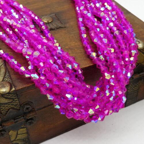 2018 Nouveau Demi-Aérographe 200pcs Bobine biconique cristal perles de verre #5301 Loose Spacer Beads 4 mm