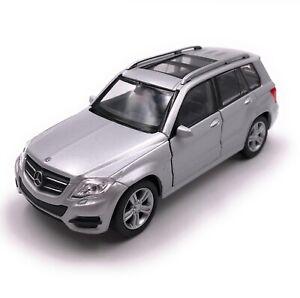 Model-Car-Mercedes-Benz-GLK-SUV-Silver-Car-Scale-1-3-4-39-Licensed