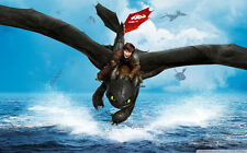 """How to Train Your Dragon 1 2 Wall Movie 21""""x13"""" Poster H22"""