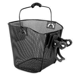 Cesta de bicicleta cesto manillar cesta de la compra cesta de bicicleta delante extraíble clip on soporte