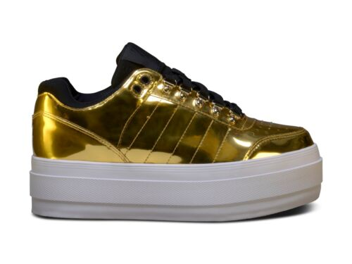 K-Swiss Gstaad Plateforme Tailles 5-8 Or RRP £ 80 Entièrement neuf dans sa boîte 93770 717