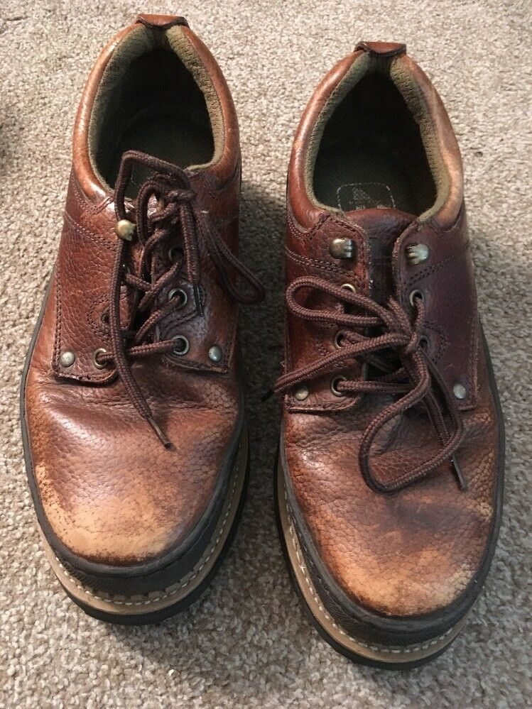 Mens Iron Age Steel Toe Oil Resistent Leather Upper shoes, Size 11W