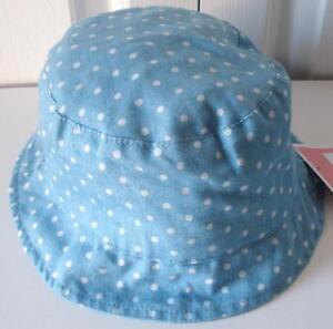 60fc11d98ed Details about NWT Circo Baby Girls Pink Blue White Polka Dot Bucket Fashion Sun  Hat 12M-5T