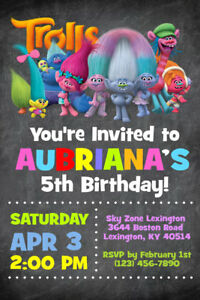 photo relating to Trolls Printable Invitations known as Data concerning Trolls Invites - Tailored - Birthday Bash - Delivered or Printable