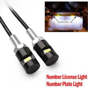2X-LED-NUMBER-PLATE-LIGHT-TRUCK-UTE-TRAILER-CARAVAN-HIGH-QUALITY-LEDS-WHITE-12V