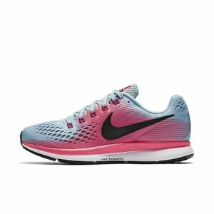 Details about WOMEN'S NIKE AIR ZOOM PEGASUS 34 WIDE W SHOES blue white pink  880561 406