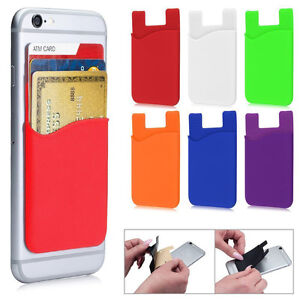 purchase cheap 6bdd3 21524 Useful Wallet Card Pocket Adhesive Sticker Back Cover Holder Pouch ...