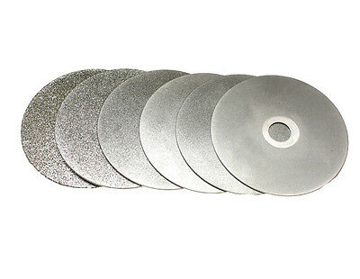 "Diamond coated 4"" Grit 80-3000 Flat Lap wheel Lapidary grinding polishing disc"