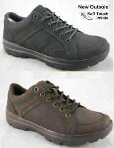 Mens-Memory-Foam-Trainers-Walk-Pro-Black-Brown-Lace-Up-Shoes-New-UK-Sizes-7-12