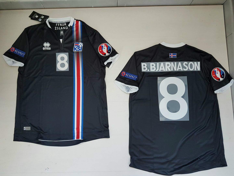 B. BJARNASON Island-Island Ísland T-Shirt JERSEY Trikot PATCH B