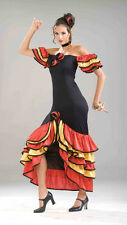 Spanish Lady Mexican Senorita Adult Women's Halloween Costume Hispanic Dress