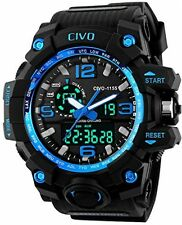 CIVO Men and rsquo;s Boy and rsquo;s Analogue Digital 50M Waterproof Military
