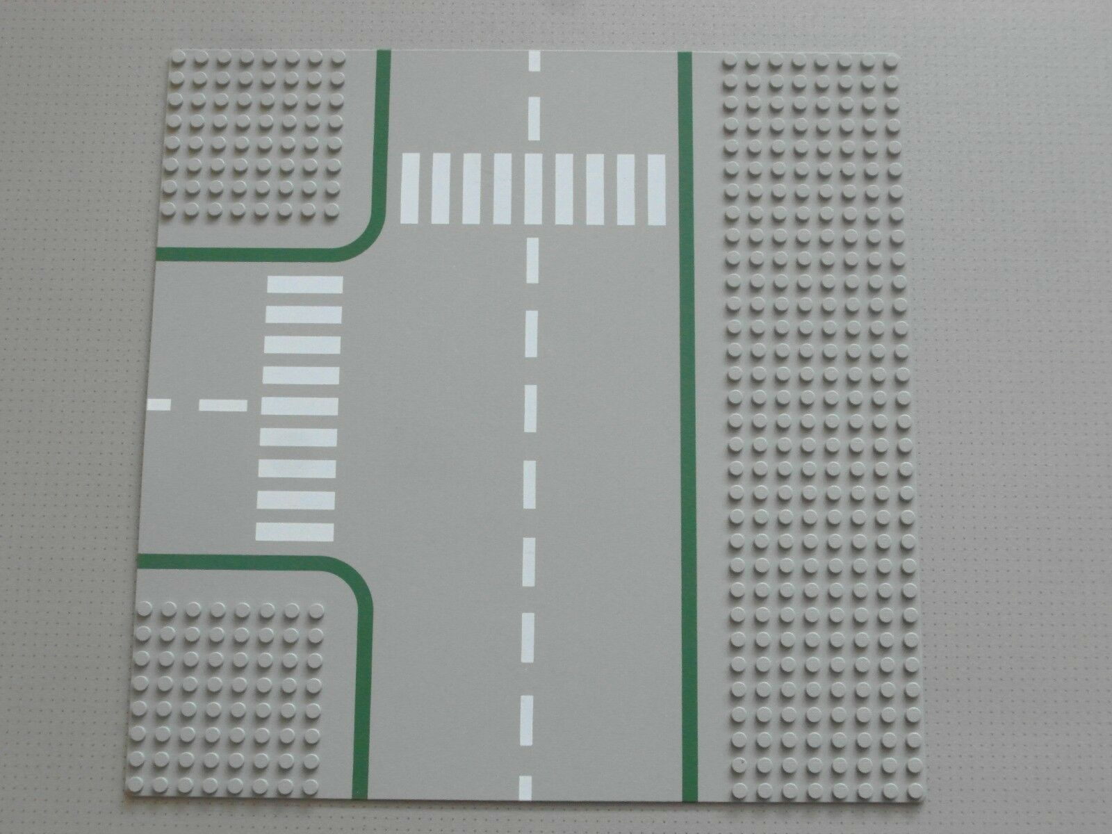 Lego Base Plate Plate Plate 32 x 32 Studs Grey Road - T-Junction - Rare From 10041 (612p01) 267950