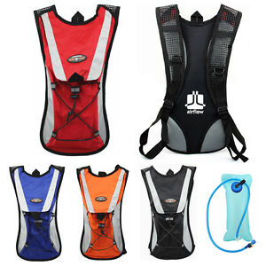 Cycling Backpack Water Bag Hiking Pouch Climbing Hydration Pack with Bladder