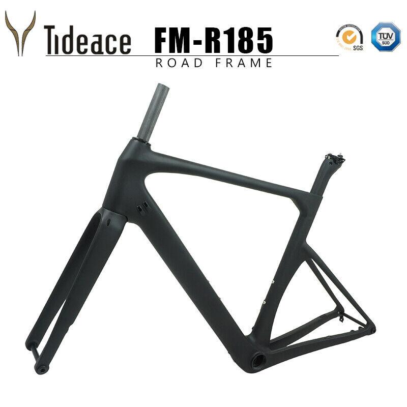 140mm Disc Brake 12142mm Thru Axle BB386 T800 Road Cycling Bike Frames OEM Matt