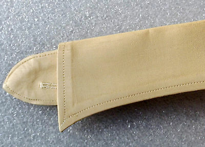 Vintage beige shirt collars UNUSED 1950s 1960s casual uniform Semi-stiff 15.5 16