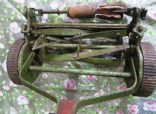 Vtg.Folbate Reel lawn mower Push cutter cast iron wheel  Wood Handle ENGLAND#