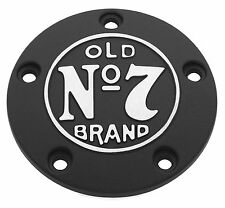 Jack Daniels OLD #7 Black Cut Timing Points Ignition Cover Harley 99-16 106-234