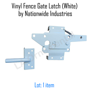 Details about Vinyl Fence Gate Latch (White) by Nationwide Industries, New,  Free Ship