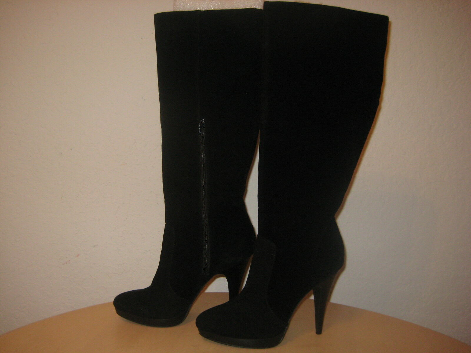 INC International Concepts Size 8.5 M GALLA Black Fabric Boots New Womens Shoes