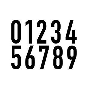 10-Autocollant-12cm-Noir-DIN1451-Maison-Porte-Auto-Numero-Chiffre-Nombre