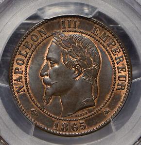 France-1865-10-Centimes-Eagle-animal-PCGS-MS63BN-Gad-253-F-134-PC0639-combine-sh