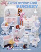 Fashion Doll Nursery Plastic Canvas Patterns Fit Barbie Fashion Dolls