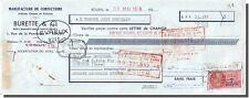 Traite - BURETTA & Cie Fabbricazione sartoria per Rouen 1958