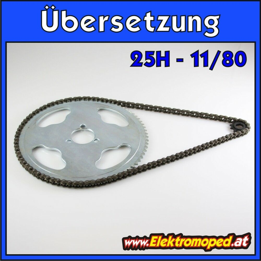 Electric Scooter spare part 25H 11 80 complete transmission mountain  dünne  ...