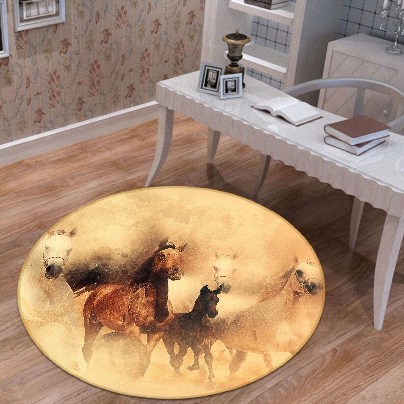 3d cavallo dipingere a63 GIOCO ANIMALI antiscivolo tappeto elegante foto TAPPETO Wendy