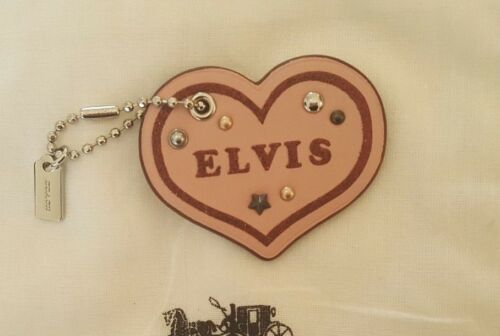 NEW Coach Limited Edition Elvis Pink Heart Bag Key Chain Charm F24540