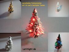 LED Weihnachtset ,Tannenbaum grün  , 2 Stück mit 8 LED Lichterkette in rot