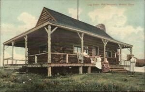 Bristol-CT-Log-Cabin-Fall-Mountain-c1910-Postcard