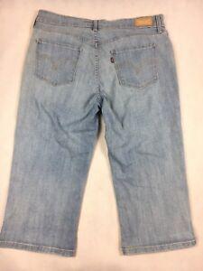 Levi-039-s-Capri-Cropped-Denim-Jeans-Women-s-Size-12