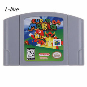 NEW-Nintendo-N64-Game-Super-Mario-64-Video-Game-Cartridge-Console-Card-US-VER
