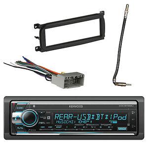 details about kenwood receiver, bluetooth w/ dash kit, antenna adapter & radio  wiring harness