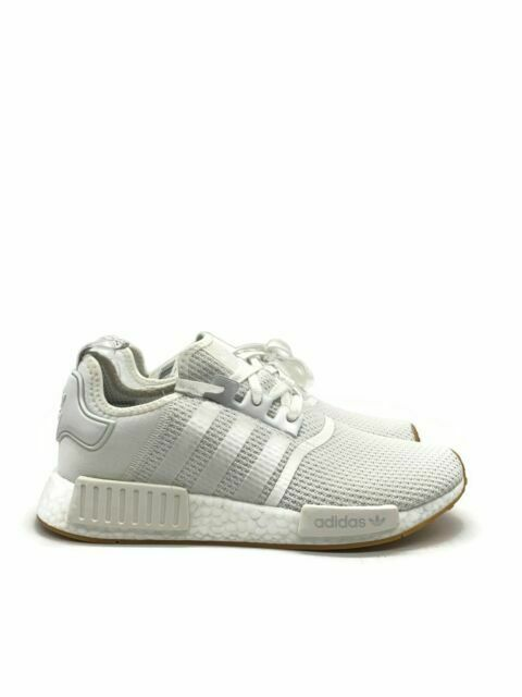 Adidas D96635-100 NMD R1 Athletic Shoes for Men - White