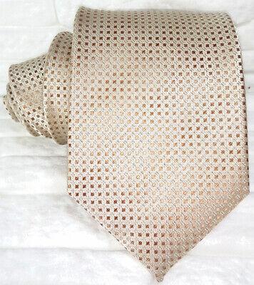 Ambizioso Cravatta Uom Seta Marrone Geometrica Jacquard Made In Italy Business Matrimoni I Prodotti Sono Venduti Senza Limitazioni