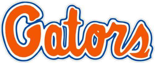 """Florida Gators NCAA Color Die Coupe Autocollant Vinyle Autocollant-Vous Choisissez Taille 2/"""" 62/"""""""