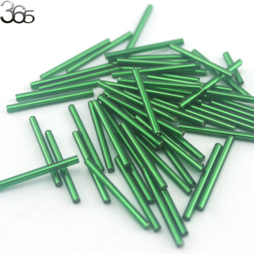 220 Pcs 2x30mm Jewelry Making DIY Loose Czech Glass Tube Spacer Beads