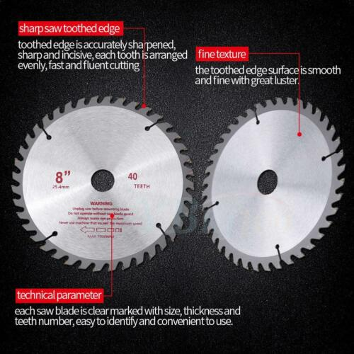 8Inch 40T Teeth Carbide Tip Blade for Brush Cutter Trimmer Bore Diameter 25.4mm