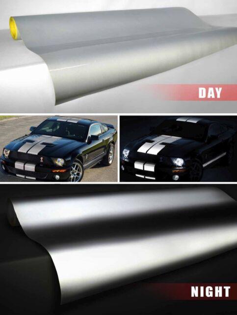 Vvivid XPO 1ft x 4ft Silver White reflective vinyl automotive wrapping film