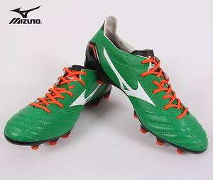 hot sale online 59f9a 59eef ... where to buy image is loading mizuno morelia neo md green soccer  football cleats e26d3 012fa