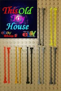 Lego ® lot x5 large black h8 antenna antenna ref 2569