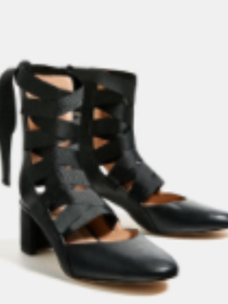 ZARA HEEL GENUINE STRAPPY block  HEEL ZARA Schuhe US 6 BNWT 01ab9e